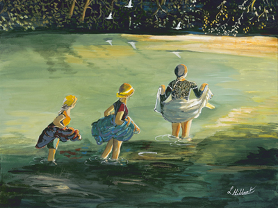 Wading at Sandy Pools by Laurel Hibbert