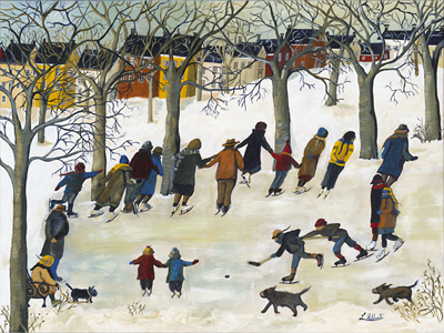 Winter in the Park by Laurel Hibbert